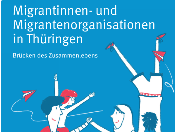 Titelbild der Broschüre Migrantinnen- und Migrantenorganisationen in Thüringen