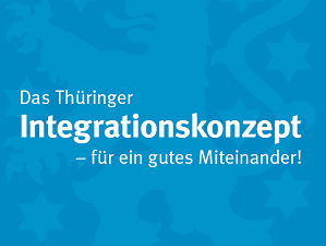 Titelbild Thüringer Integrationskonzept Thüringenwappen