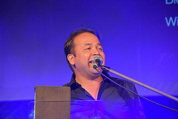 Sänger am Mikro