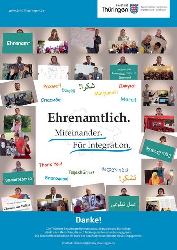 Poster Kampagne #DankeEhrenamt