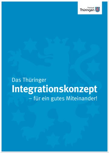 Titelbild Thueringer Integrationskonzept Thüringenwappen