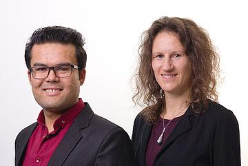 Rahmatullah Batoor und Franka Schulz (Ehrenamtskoordination)