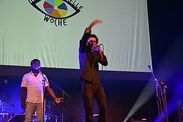 Sänger motiviert das Publikum
