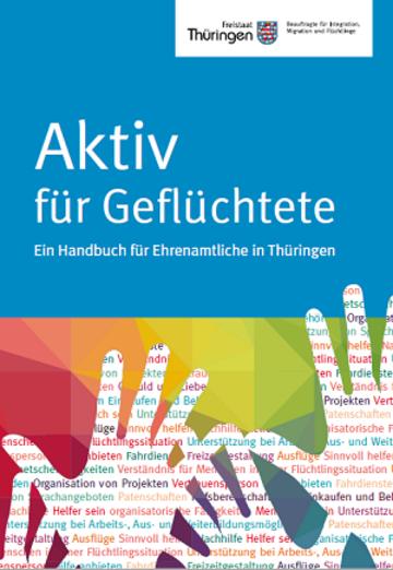 Titelbild Handbuch Aktiv für Geflüchtete