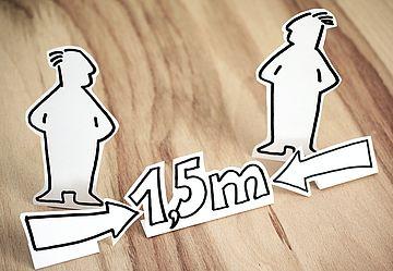 Abstand 1,5 m (Freie Nutzung: Pixabay congerddesign)