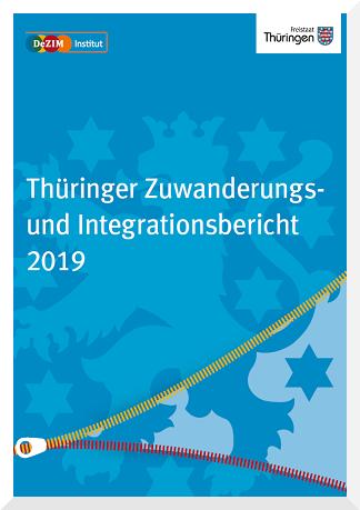 Titelbild Thüringer Zuwanderungs- und Intergrationsbericht Thüringenwappen